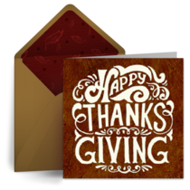 Thanksgiving Wishes card image