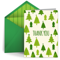 Holiday Thank You Tree card image