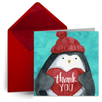 Holiday Heart Penguin card image