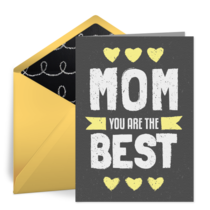 Best Mom Chalkboard card image