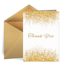 Golden Day Thank You card image