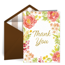 Fall Floral Thank You card image