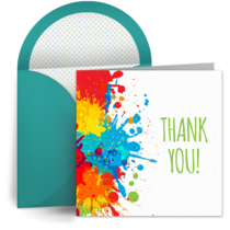 Paint Splatter Thank You card image