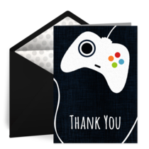 Game Controller Thank You card image