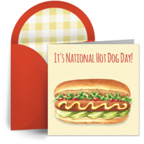 National Hot Dog Day | Jul 22 card image