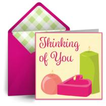 Thinking of You Candle card image