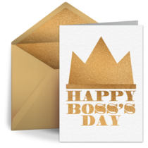 Boss's Day Crown card image