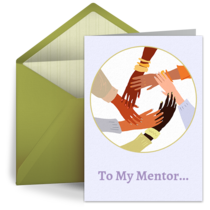 To My Mentor card image