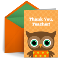 Thank You Owl card image