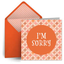I'm Sorry Pattern card image