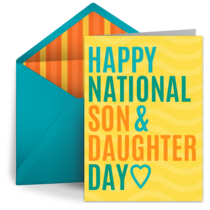 Son & Daughter Day | Aug 11 card image