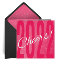 Pink 2021 Cheers card image