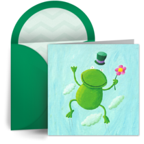 Happy Leap Day Frog card image
