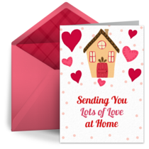 Sending Love to You at Home card image