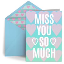 Miss You Hearts card image