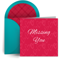 Missing You Hearts card image