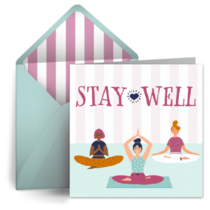 Stay Well Yoga Pose card image