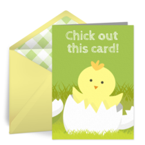 Easter Chick card image