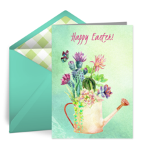 Easter Watering Can card image
