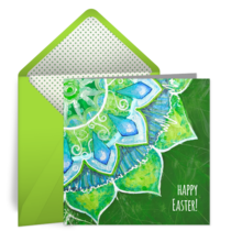 Easter Petals card image
