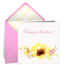 Cheerful Easter Flowers card image
