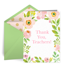 Spring Teacher Thank You card image