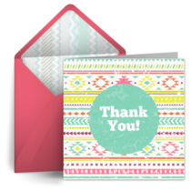Colorful Teacher Thank You card image