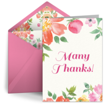 Watercolor Teachers Thanks card image