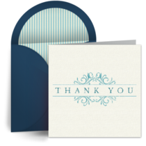 Vintage Teacher Thank You card image