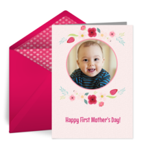First Mother's Day Photo card image