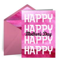 HAPPY HAPPY Mother's Day card image