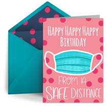 Safe Distance Birthday card image