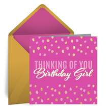 Birthday Girl card image