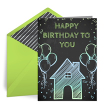 Birthday House card image