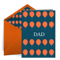 Dad Balloons card image