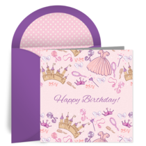 Princess Birthday card image