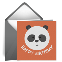 Birthday Panda card image