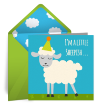 Sheepish card image