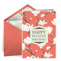 Belated Flowers card image