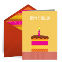 Birthday Candle card image