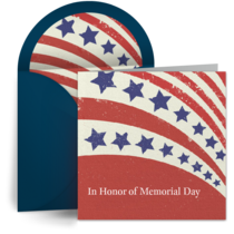 Red, White & Blue Memorial card image