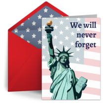 Never Forget Memorial card image
