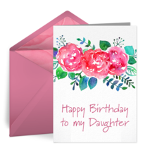 Happy Birthday Daughter card image