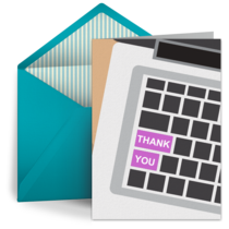 Retirement Thank You Keyboard card image
