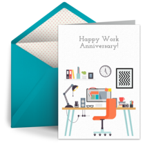 Work Anniversary card image