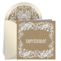 Rustic Floral Birthday card image