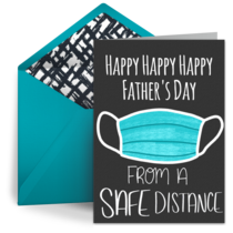 Father's Day from a Safe Distance card image