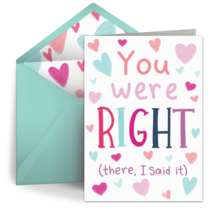 You Were Right Dad card image