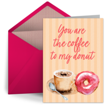 Coffee to My Donut card image