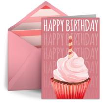 Pink Birthday Frosting card image